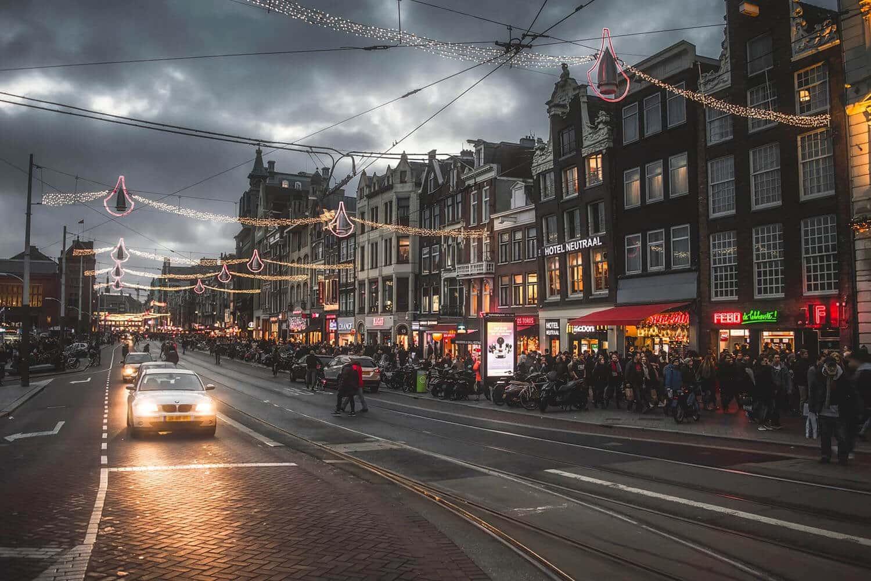 Amsterdam - Straße, Weihnachten
