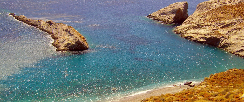 Badebucht auf Folegandros