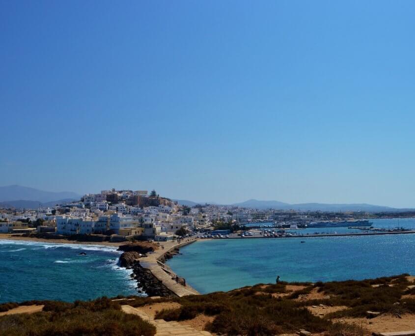 Aussicht auf Naxos Stadt