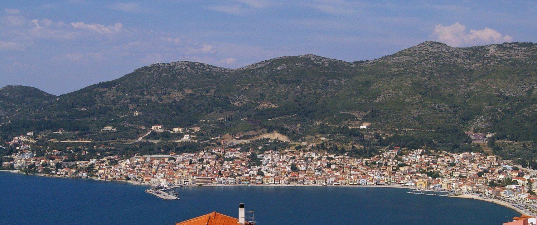 Ausblick auf den Urlaubsort Samos