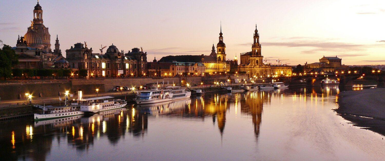 Dresden bei Sonnenuntergang