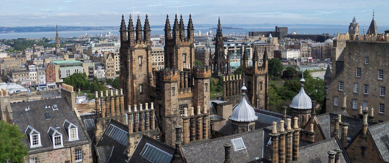 Aussicht auf Burg Edinburgh
