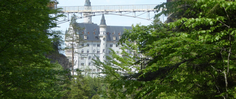Marienbrücke mit Aussicht auf das Schloss Neuschwanstein