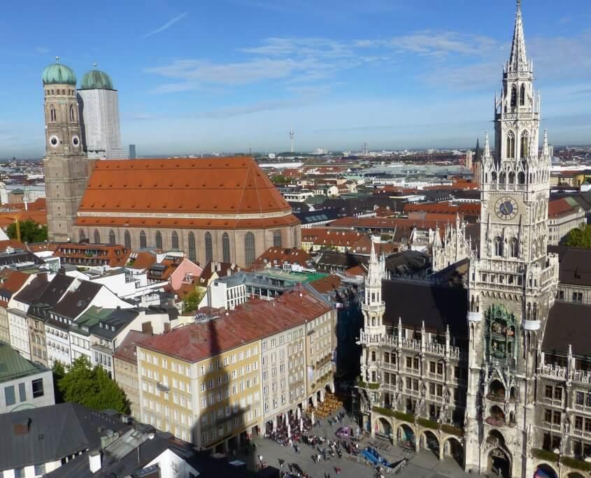Aussicht auf den Marienplatz München