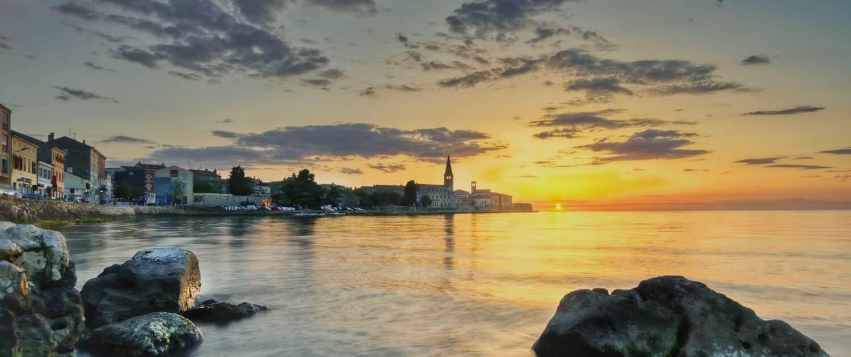 Porec - Kroatien, Sonnenuntergang am Meer