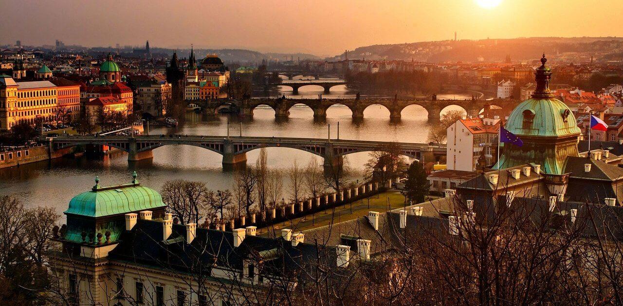 Prag bei Sonnenuntergang