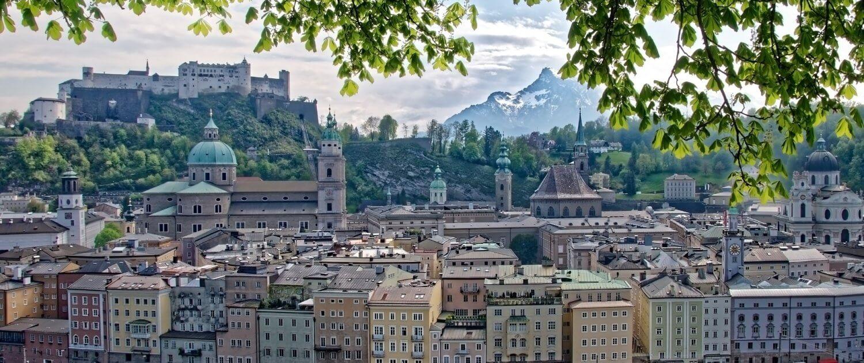 Aussicht über Salzburg Österreich