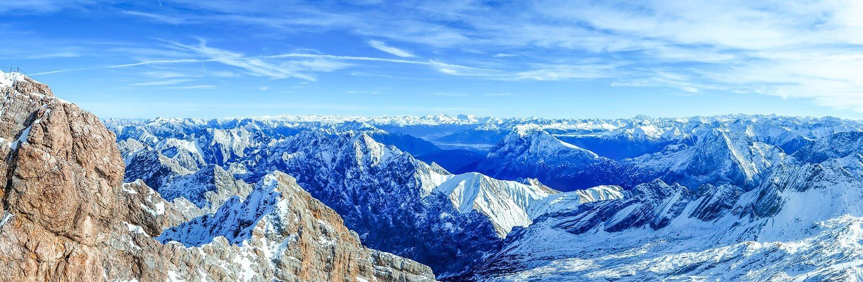 Gipfel-Panorama Zugspitze