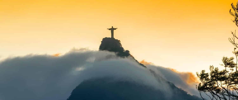 Christusstatue Cristo Redentor in Rio de Janeiro