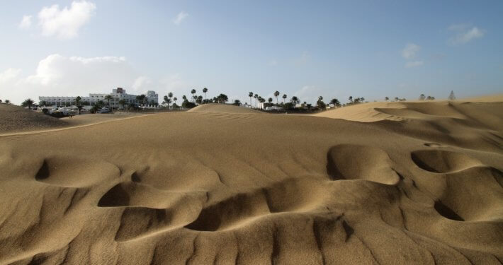 Dünenlandschaft Maspalomas im Süden der Insel Gran Canaria