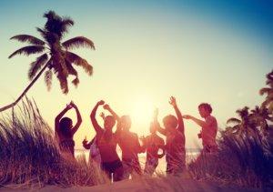 Feier am Strand