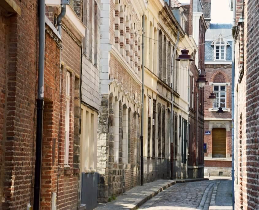 Malerische Gasse in Lille Frankreich
