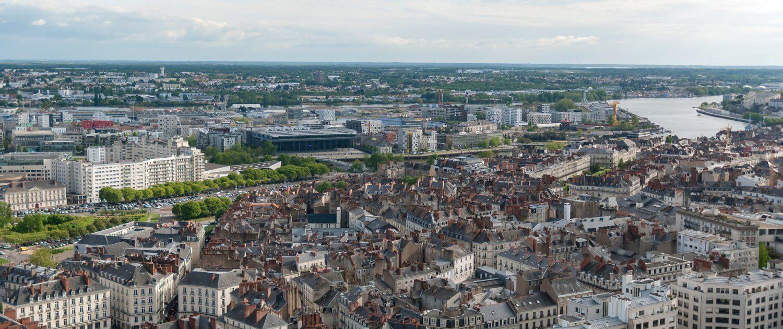 Ausblick über Stadt Nantes