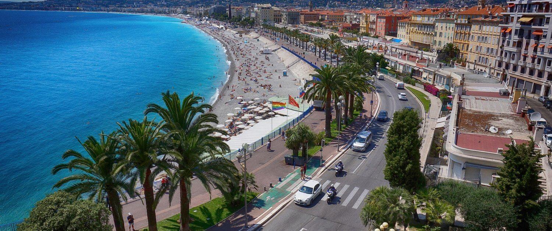 Küste in Nizza Frankreich