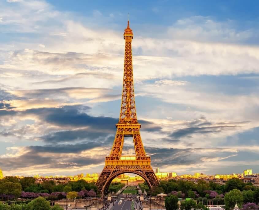 Aussicht auf den Eiffelturm Paris