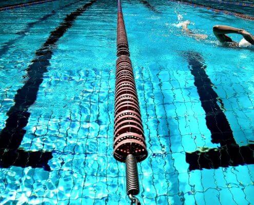 Schwimmbad Bahnen