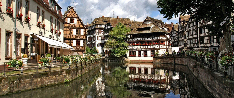 Altstadt von Straßburg in Frankreich