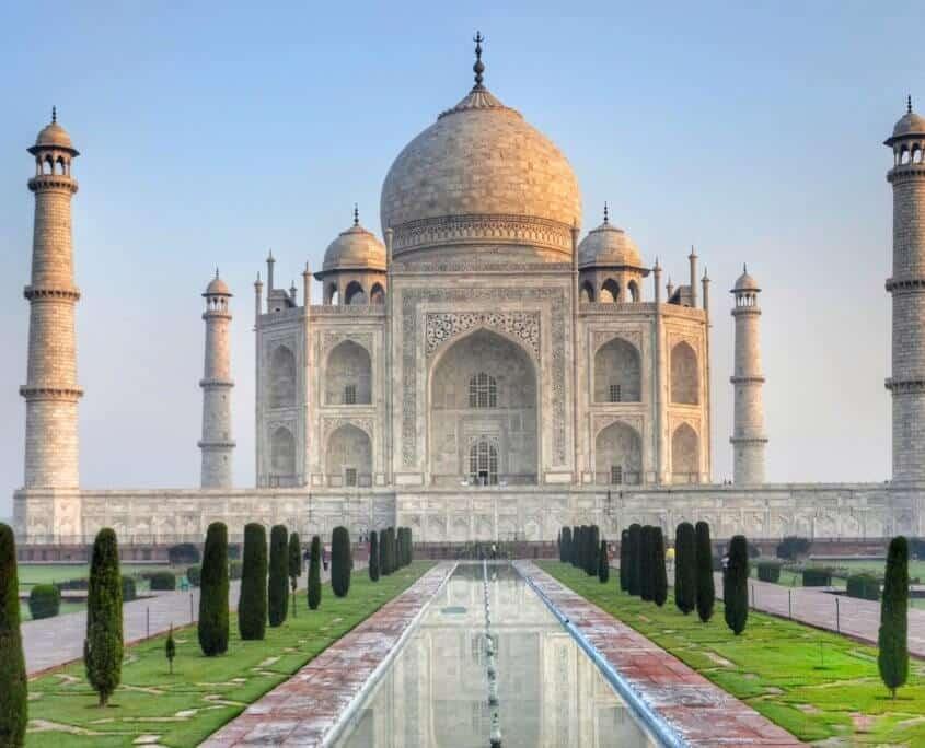 Grabstätte Taj Mahal in Agra Indien