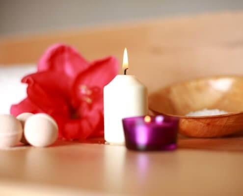 Wellness Blume Kerze