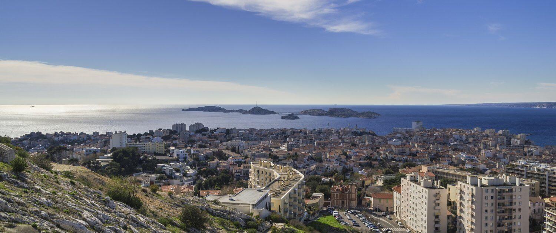 Ausblick über die Hafenstadt Marseille