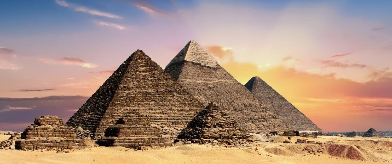 Aussicht auf die Pyramiden von Gizeh