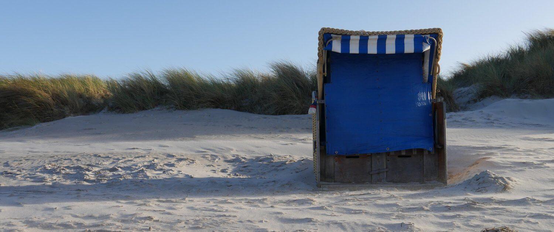 Strandkorb am Ferienpark Californien an der Ostsee