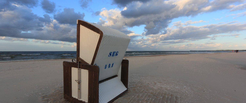 Strandkorb am Strand in Karlshagen