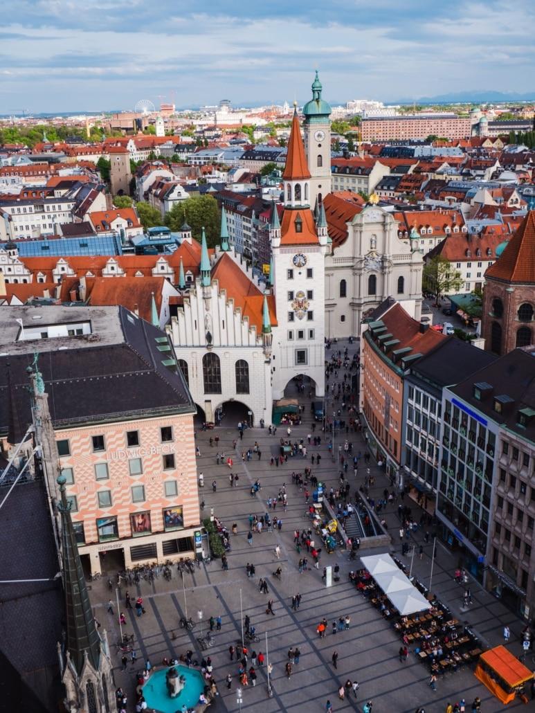 Ausblick auf den Marienplatz München