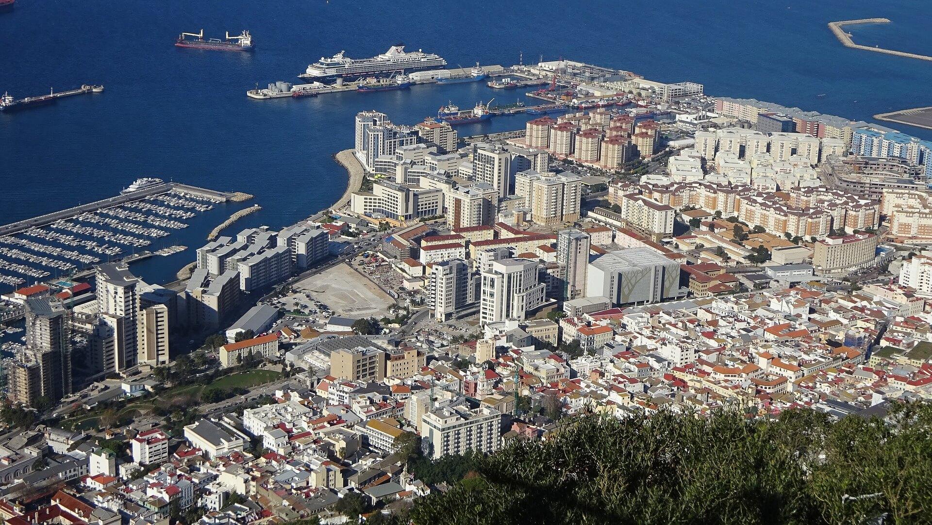 Fels von Gibraltar Gibraltar Felsen zu Fuß Affenfelsen Gibraltar