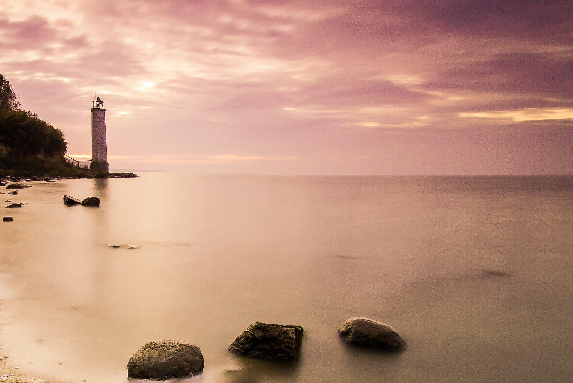 Leuchturm auf der Ostseeinsel Rügen