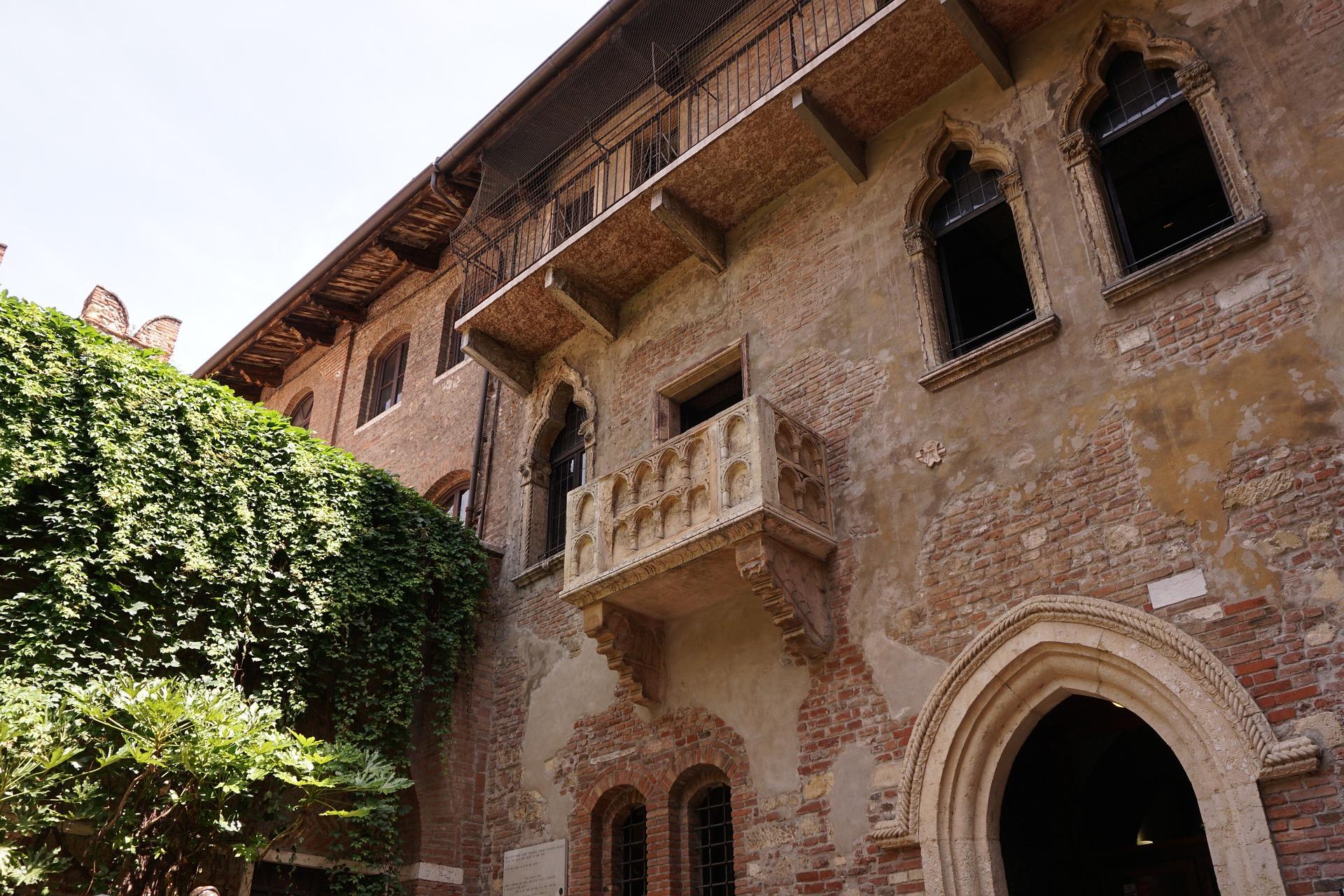 Ausblick auf den Balkon Julias in Verona Italien