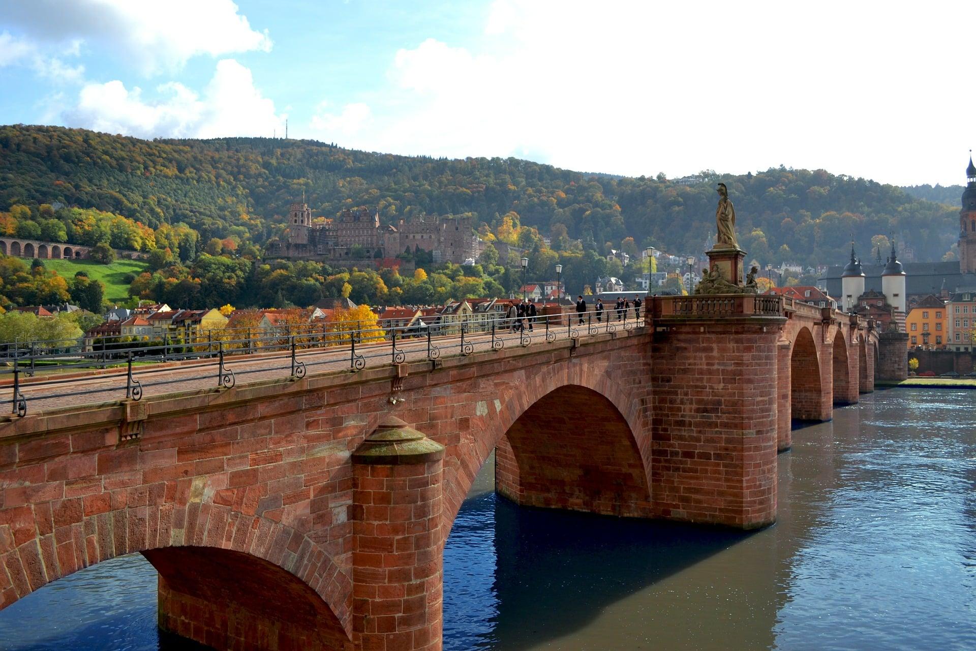 Heidelberg Sehenswürdigkeiten Alte Brücke Fluss