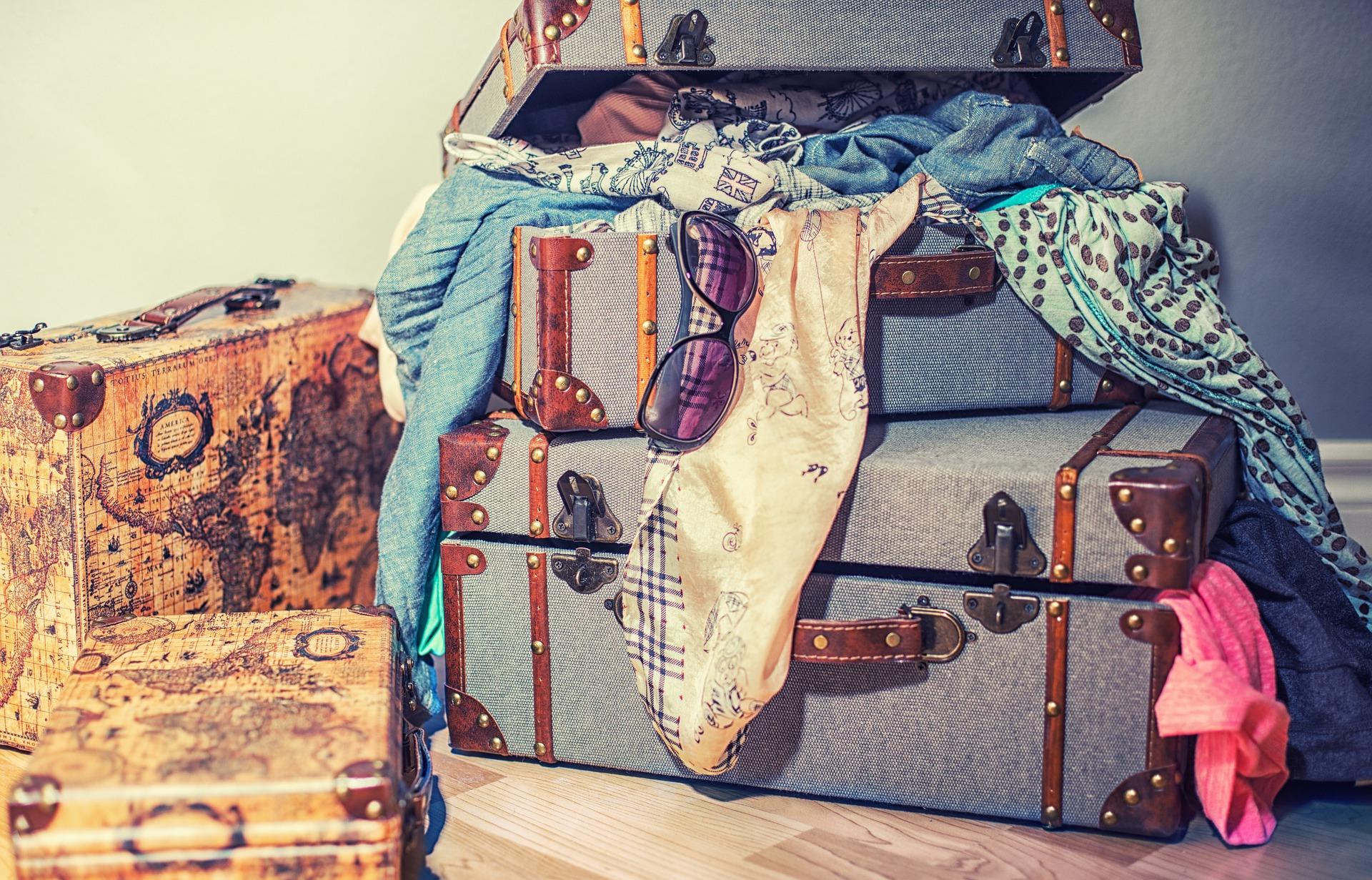Europareise Koffer packen
