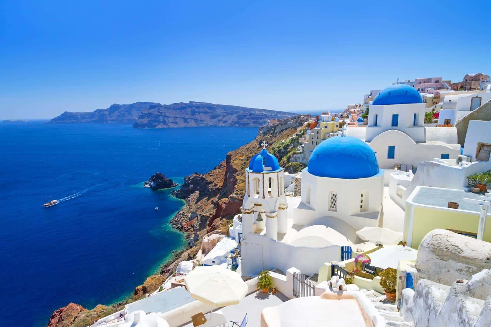 Ausblick auf Santorini Griechland