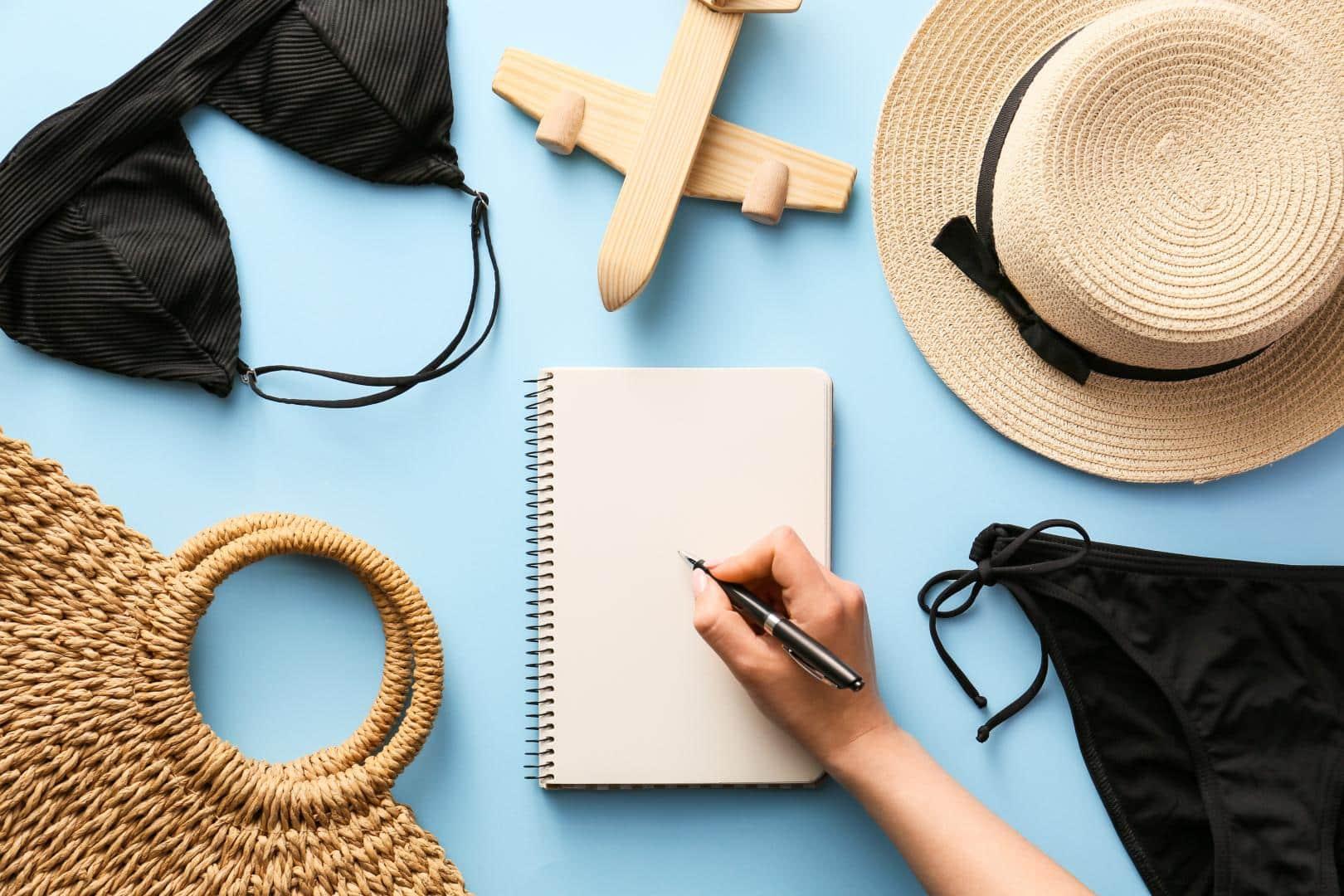 Block-Blatt To-Do-Liste für die Reise mit Kindern