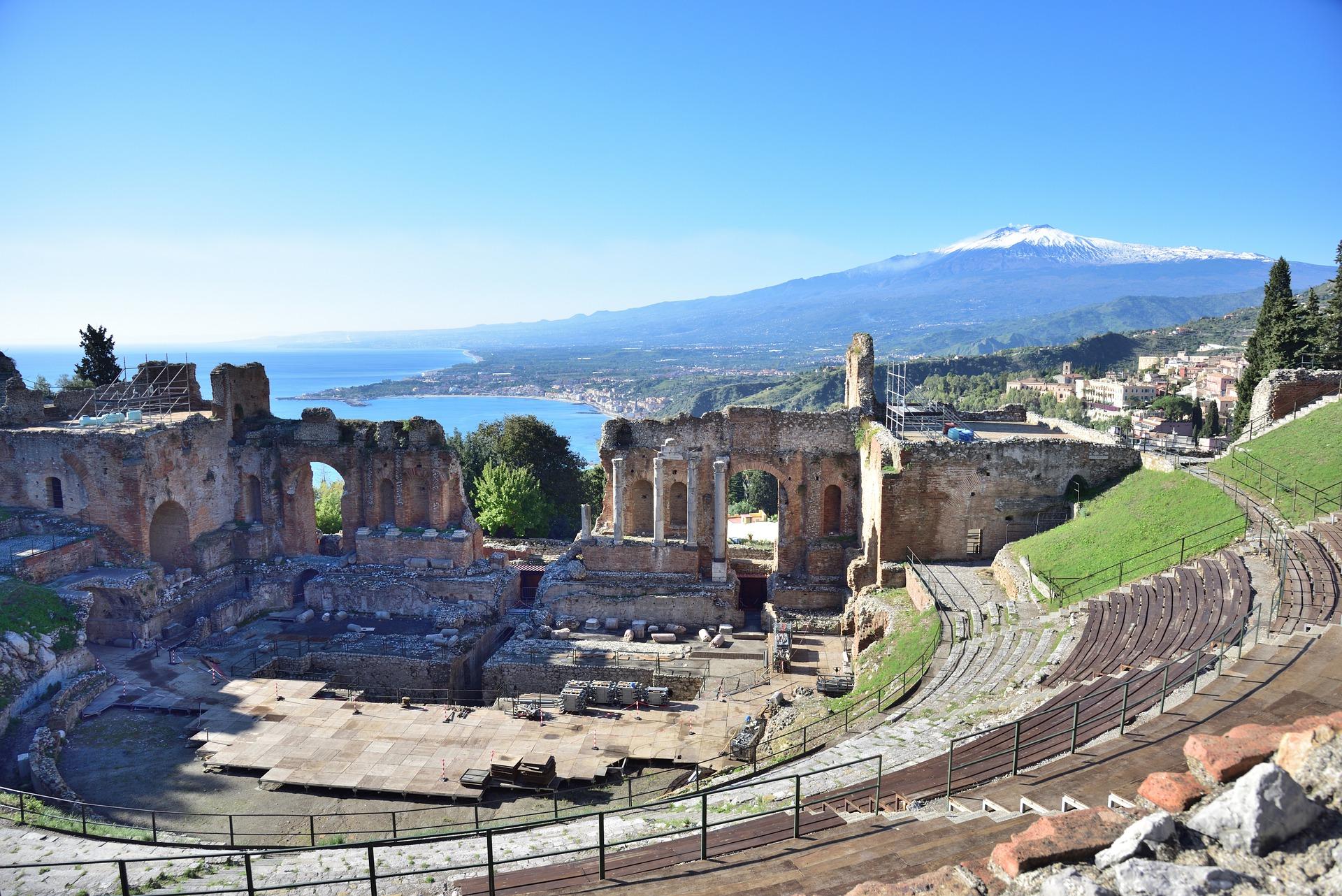 Taormina Teatro Greco Sizilien