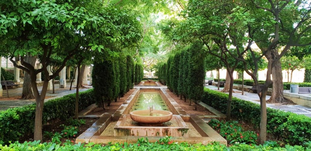 Jardines de S'Hort del Rei - Brunnen im Garten des Königshauses