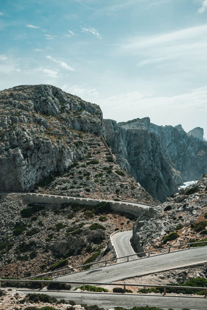 Road to the lighthouse of Cap de Formentor