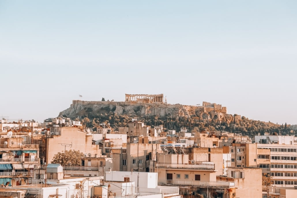 Akropolis in Athen Oberstadt