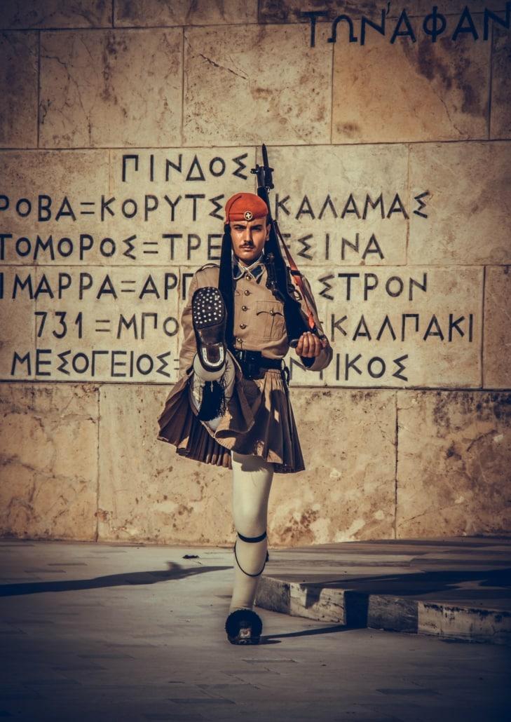 Wache am Syntagma Platz Athen