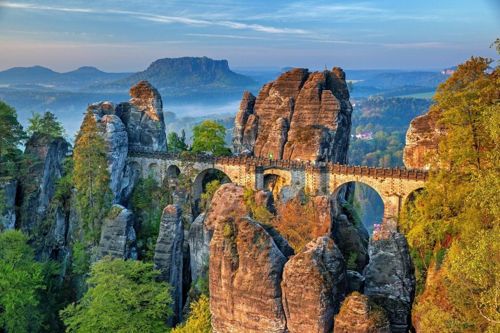 Bastei Brücke, Aussichtspunkt Sachsen Deutschland