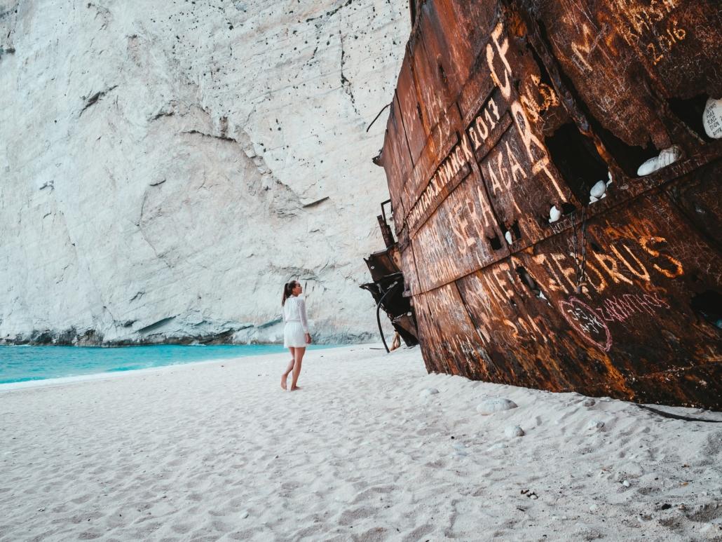 Navagio beach, Zakynthos Island, Greece, Shipwreck