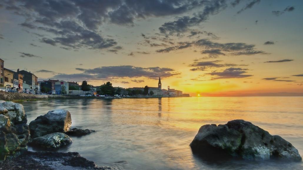 Ausblick auf Pore Kroatien