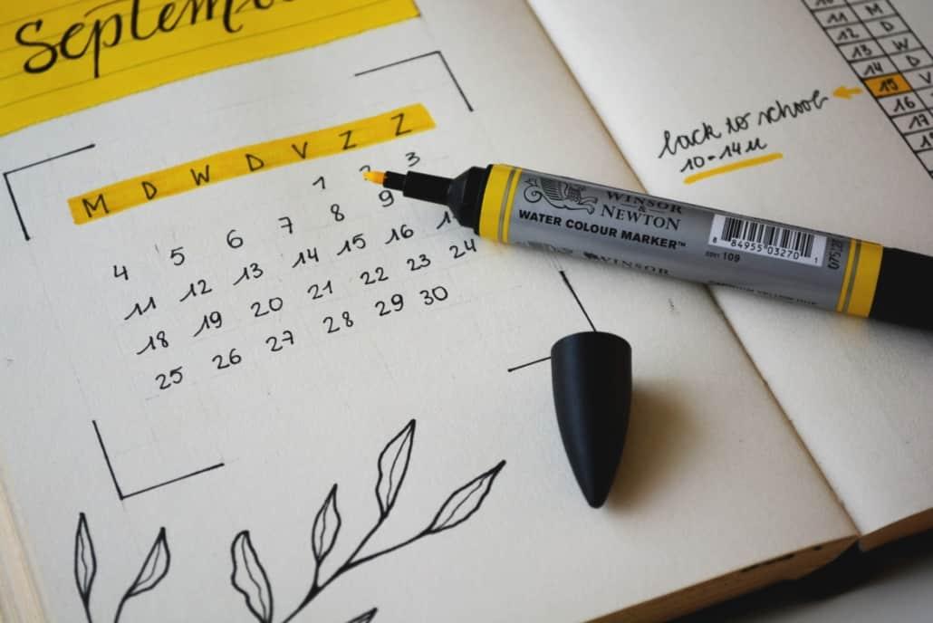 Junggesellenabschied Planung Kalender