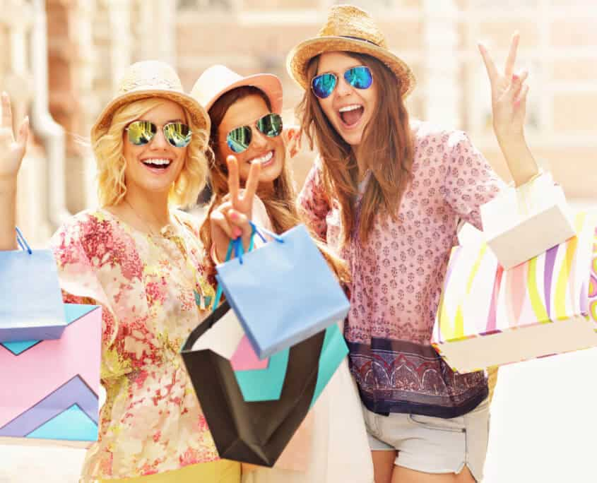 Mädels Shopping